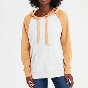 AEO | Color Blocked Raglan Hoodie Soft Fleece